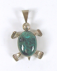 OS sterling silver Turtle Pendant