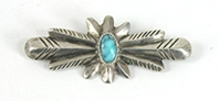 Vintage sterlling silver turquoise Pin
