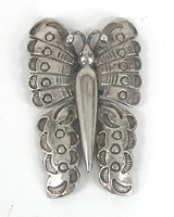 Vintage sterlling silver Butterfly Pin