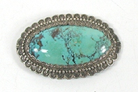 Vintage sterlling silver Turquoise Pin Pendant