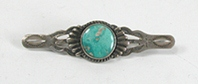 vintage sterling silver and Turquoise Bar Pin