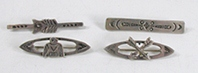 our vintage sterling silver Bar Pins