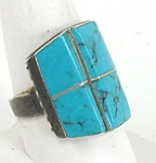 Authentic vintage Navajo Turquoise Sterling Silver ring