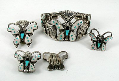 Jewelry & Watches Jewelry Sets Butterfly Bracelet With Matching Clip-on Earrings