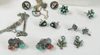 Vintage NOS Lot of Pendants and Earrings
