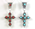 Zuni Turquoise Coral Cross