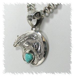 Russell sam navajo large sterling silver and turquoise medicine bear native american navajo sterling silver turquoise bear pendant aloadofball Choice Image