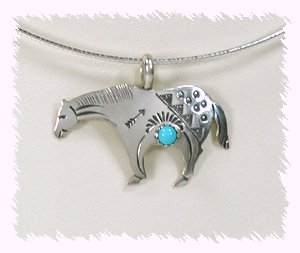 Native american horse jewelry horse and lion photos douglas etsitty navajo sterling silver and turquoise horse pendant aloadofball Gallery