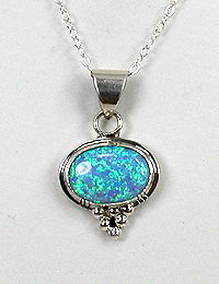 Authentic native american navajo blue opal pendant sterling silver authentic native american navajo sterling silver opal pendant aloadofball Images