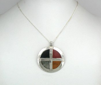 Native American Four Colors Medicine Wheel pendant by ...