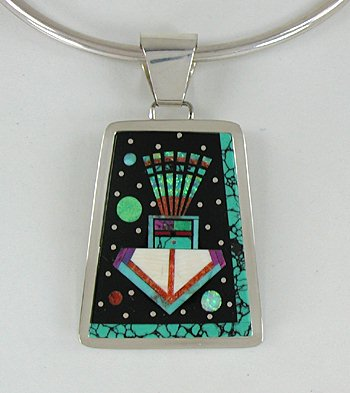 american pendant native of mother pearl gaspeite necklace inlay products or