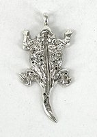 sterling silver horned toad pendant