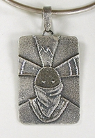 Authentic Native American Sterling Silver Apache Crown Dancer pendant by Navajo silversmith Monty Claw