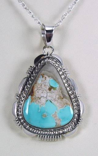 Boulder turquoise pendant native american sterling silver turquoise pendant aloadofball Choice Image
