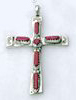 Hand made Native American Indian Jewelry; Navajo Sterling Silver Necklace, Pendant, Cross