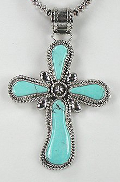 Cross crosses native american pendants turquoise navajo sterling navajo turquoise necklace and cross aloadofball Image collections