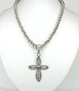 Large silver cross pendant navajo monte robertson sterling silver native american navajo sterling silver cross pendant aloadofball Image collections