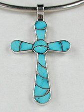 Cross crosses native american pendants turquoise navajo sterling native american zuni indian sterling silver turquoise cross pendant aloadofball Image collections