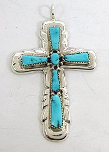 jewelry pendants crosses NPC turq iule med.