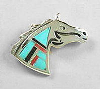 sterling,silver,pin,pendant,bracelet,necklace,Indian,horse,,jewelry,gift,native,american,navajo,opal,turquoise,onyx,lapis,coral, pony,appaloosa,lapel, horses, Cherry Hill