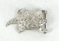 Authentic Native American Horned Toad pin of sterling silver  by Mildred Parkhurst Navajo