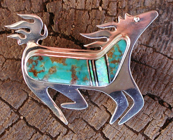 Native American Indian Horse Jewelry Hand Made Sterling Silver
