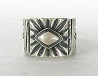 Authentic Native American Sterling Silver ring by Navajo Derrick Cadman