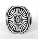 Authentic Native American sterling silver Overlay ring by Navajo Calvin Martinez