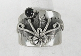 Authentic Navajo Sterling Silver ring size 8 1/2 by Peterson Johnson