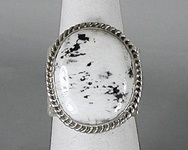 Authentic Navajo Sterling Silver white buffalo stone cigar band ring size10 1/4 by Tony Garcia