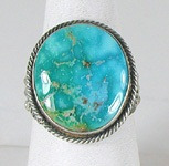 Authentic Navajo Sterling Silver Turquoise Mountain ring size 11 3/4 by Shirley Tso