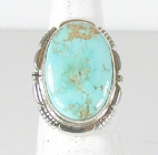 Sterling Silver Royston Turquoise ring size 6 1/4