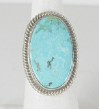 Sterling Silver Royston Turquoise ring size 8 3/4