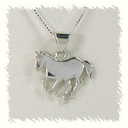 Ervin hoskie navajo sterling silver and turquoise horse pendant with hand made native american indian jewelry navajo sterling silver horse pendant aloadofball Gallery