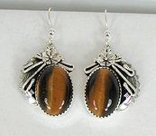 Authentic Navajo Tiger Eye Necklace, Bracelet, Ring and Earrings Set