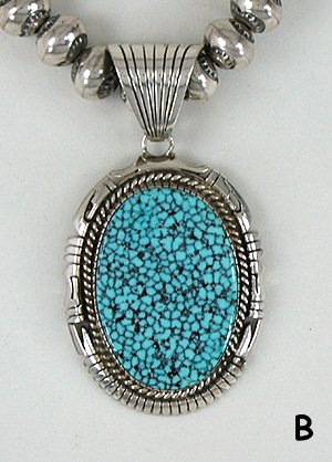 Authentic Native American Natural Kingman Turquoise Bracelet And Pendant And Earrings Set