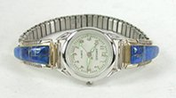 Authentic Native American Sterling Silver and Lapis Lazuli Watch tips by Navajo Arlene Yazzie