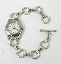 Sterling Silver  Link Watch Bracelet