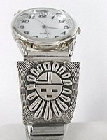 Sterling silver Sunface mens watch Tips