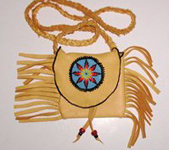 Native American Indian Buckskin Medicine Bag