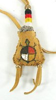 Native American Indian Buckskin Sage Bag