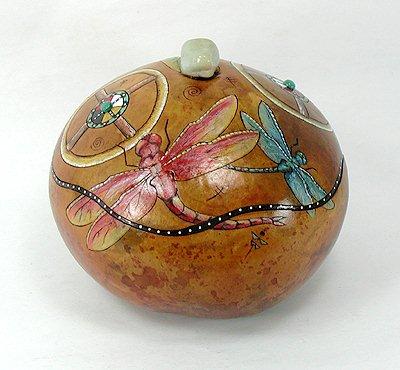 Dragonfly Jewelry box ceremonial medicine Native American Apache