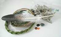 Native American Indian Sacred Smoke Bowl Blessing Smudge Kit