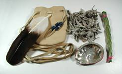 Native American Smudge Kits herbs feathers bags books