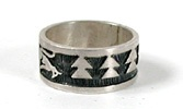 Authentic Native American vintage Hopi rings size 7 1/2 by Raymond Kyasyousie
