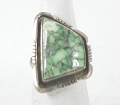 vintage sterling silver and  turquoise ring size 5 1/2