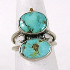 vintage sterling silver turquoise ring size 7 1/4