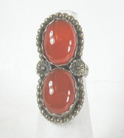 vintage sterling silver  Carnelian ring size 6 1/4