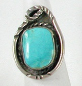 vintage sterling silver turquoise ring size 6 1/4