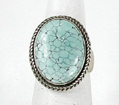vintage sterling silver turquoise ring size 6 3/4